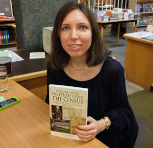 Emma Jolly book signing Tracing Your Ancestors Using The Census